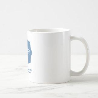 Logotipo azul caneca de café