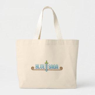 Logotipo azul da saga bolsas para compras