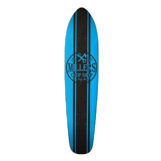 Logotipo azul dos hot rod das listras dos SS Skateboard