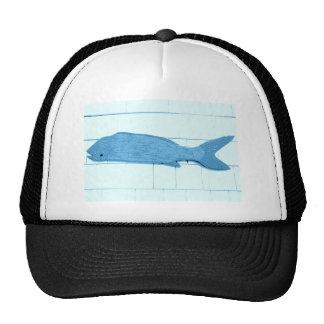 logotipo azul dos peixes boné