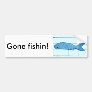 logotipo azul ido dos peixes do fishin adesivo para carro