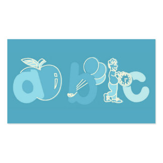 Logotipo azul pálido do alfabeto de ABC para menin Modelos Cartões De Visita