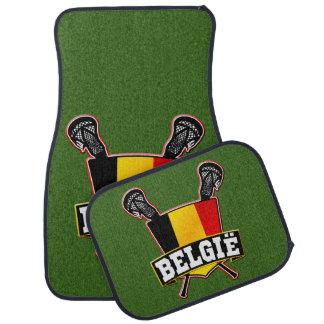 Logotipo belga do Lacrosse da bandeira Tapete Automotivo