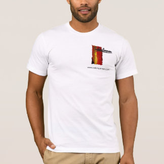Logotipo branco T de Carmen do salão de beleza Camiseta