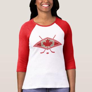 Logotipo canadense da bandeira do hóquei tshirt