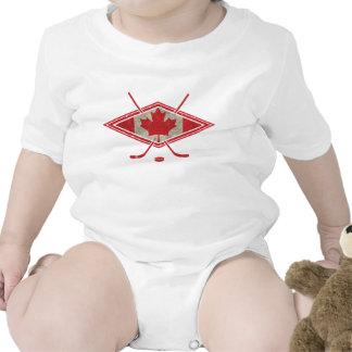 Logotipo canadense da bandeira do hóquei babador