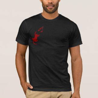Logotipo carmesim da camisa dos homens - direito