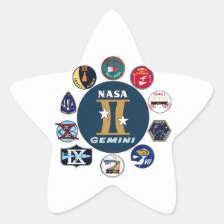 Logotipo comemorativo dos Gêmeos Adesivo Em Forma De Estrela