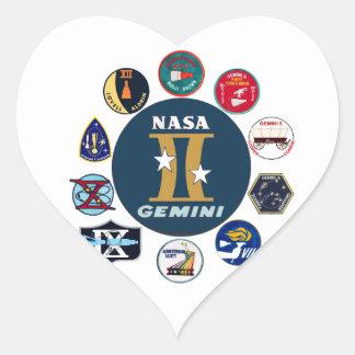 Logotipo comemorativo dos Gêmeos Adesivos Em Forma De Corações