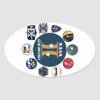 Logotipo comemorativo dos Gêmeos Adesivos Ovais