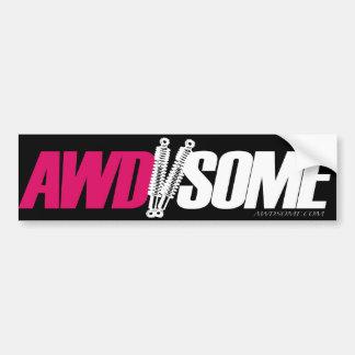 Logotipo cor-de-rosa 3 das etiquetas de Awdsome Adesivo Para Carro