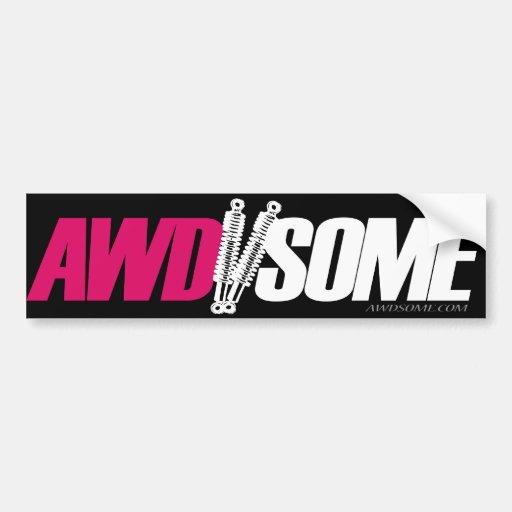 Logotipo cor-de-rosa 3 das etiquetas de Awdsome Adesivos