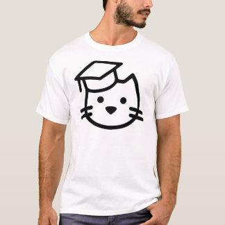 Logotipo da academia do gatinho camiseta