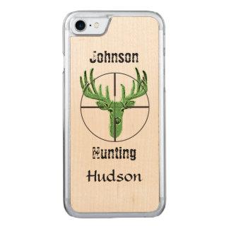 Logotipo da caça dos cervos capa iPhone 8/ 7 carved
