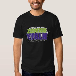 Logotipo da caminhada do zombi de Jacksonville T-shirt