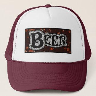 Logotipo da cerveja - vermelho/olhar de boné
