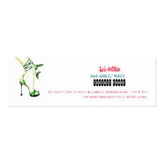 Logotipo da empresa, Li Sha, endereço email/Web Cartão De Visita Skinny