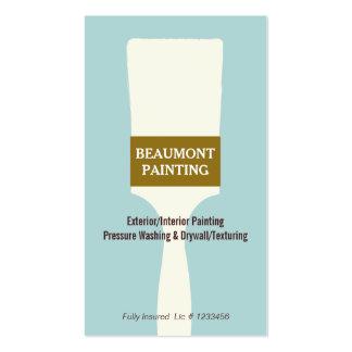 Logotipo da escova de pintura do pintor de casa cartão de visita
