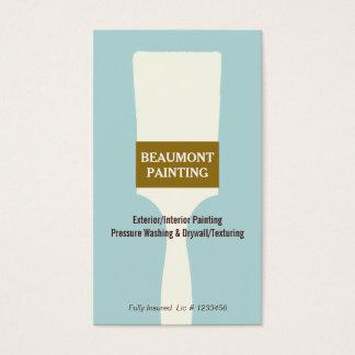 Logotipo da escova de pintura do pintor de casa cartão de visitas