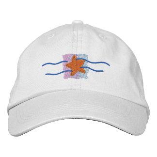 Logotipo da estrela do mar boné bordado