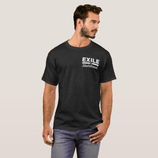 Logotipo da luz do t-shirt dos skates do exilado camiseta