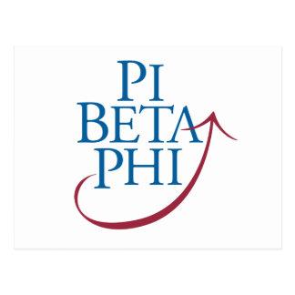 Logotipo da phi do Pi Cartão Postal