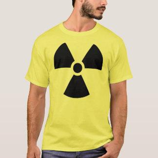 Logotipo da radiação camiseta