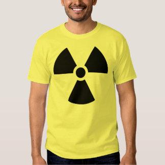 Logotipo da radiação tshirts
