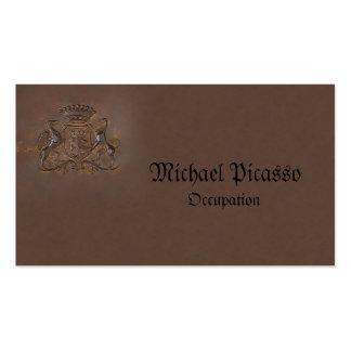 Logotipo de bronze régio do cartão de visita real