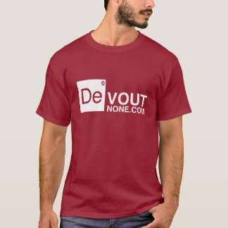 logotipo de DevoutNone.com Camiseta