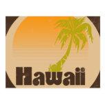 Logotipo de Havaí do vintage Cartão Postal