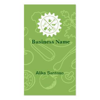 Logotipo de jardinagem cartão de visita