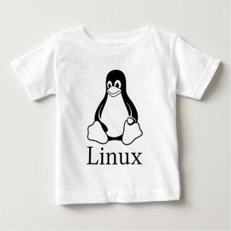 Logotipo de Linux com Tux o pinguim de Linux Camiseta