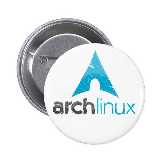 Logotipo de Linux do arco Bóton Redondo 5.08cm