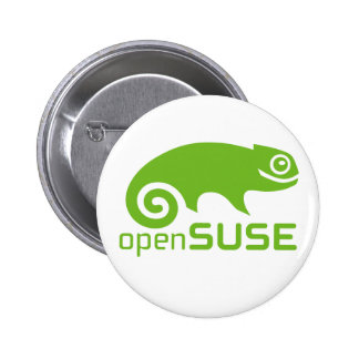 logotipo de Linux do openSuzie Bóton Redondo 5.08cm