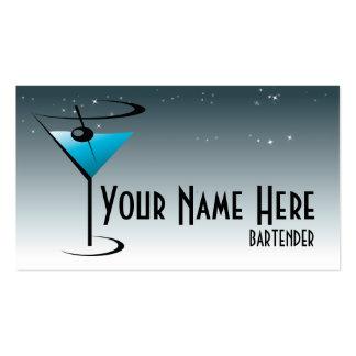 Logotipo de Martini do cartão de visita do barman