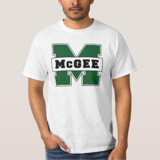 Logotipo de McGee do Escolar-Estilo Tshirts
