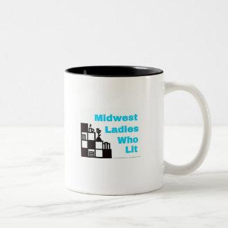 Logotipo de MWLWL eu amo livros e caneca de café
