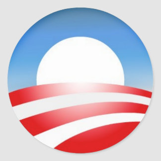 Logotipo de Obama Adesivo Redondo