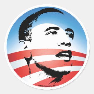 Logotipo de Obama - liso Adesivo