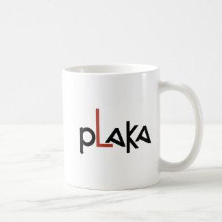 Logotipo de Plaka Caneca De Café