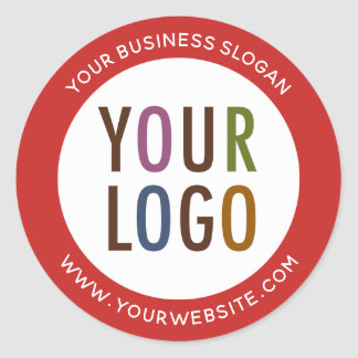 Logotipo de Redondo Promocional Negócio Etiquetas
