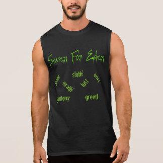 Logotipo de SFE & algodão T sem mangas de 7 homens Camisas Sem Mangas