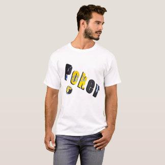 Logotipo dimensional das microplaquetas de póquer, camiseta
