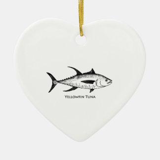 Logotipo do atum de atum amarelo enfeite para arvore de natal