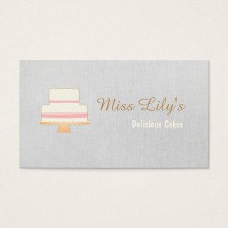 Logotipo do bolo do cozinheiro chefe de pastelaria cartão de visitas