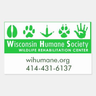 Logotipo do centro de reabilitação dos animais adesivos em formato retangulares