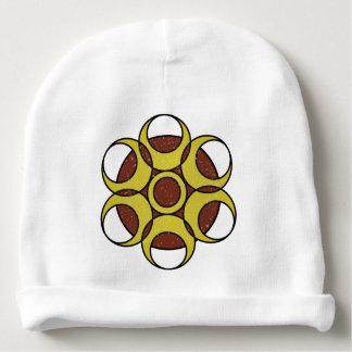 LOGOTIPO do CÍRCULO do GRUNGE do Beanie do algodão Gorro Para Bebê