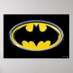 Logotipo do clássico de Batman Impressão