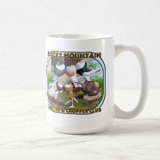 Logotipo do clube da montanha rochosa caneca de café